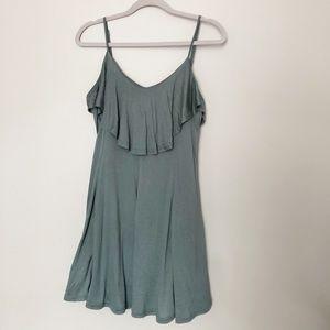 She + sky large green summer dress